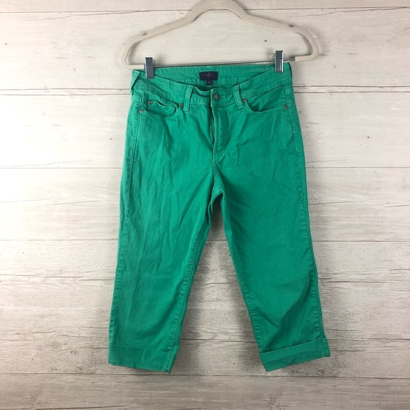 NYDJ Denim - NYDJ Green Cropped Denim Capris Size 6P